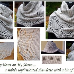 Wearin' My Heart on My Sleeve shawlette