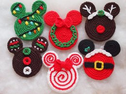Set of 6 Christmas Ornaments