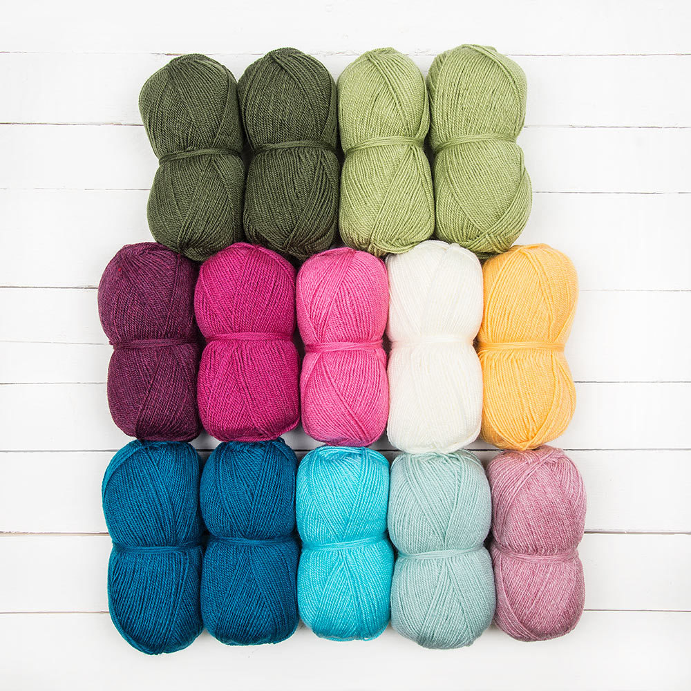 Stylecraft Lily Pond Blanket Crochet Along By Jane Crowfoot 14 Ball Colour Pack