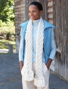 Cable Scarf in Bernat Alpaca