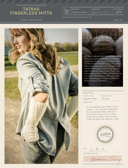 Tatras Fingerless Mitts in Blue Sky Fibers Extra - 3818 - Downloadable PDF