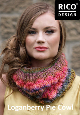 Loganberry Pie Cowl in Rico Creative Melange Chunky - Downloadable PDF