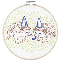 PopLush Hedgehog Party Embroidery Kit - 8in