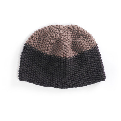 Graphite Seed Stitch Hat in Lion Brand Cotton-Ease - 70145AD