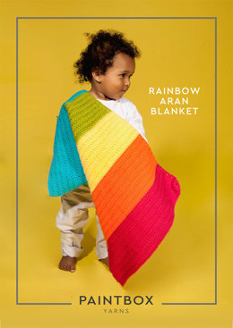Rainbow Aran Blanket in Paintbox Yarns Simply Aran - Downloadable PDF