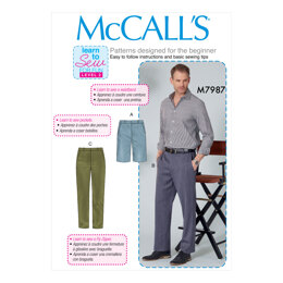 McCall's Men's Shorts and Pants M7987 - Sewing Pattern