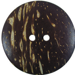 Brown Coconut 38mm 2-Hole Button