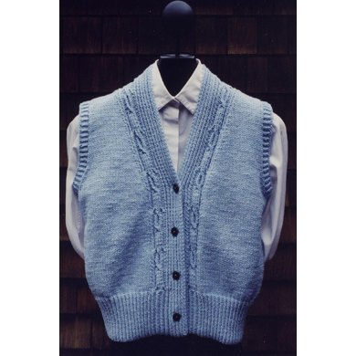 Mari Sweaters MS 131 Cabled V Neck Vest