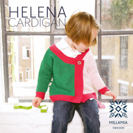 Girls' Helena Cardigan in MillaMia Merino Wool