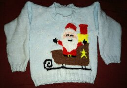 Santa and Sleigh Christmas Jumper