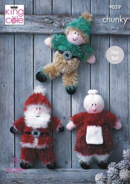 Tinsel Christmas Toys in King Cole Chunky - 9029pdf - Downloadable PDF
