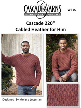 Cabled Heather For Him in Cascade 220 - W315