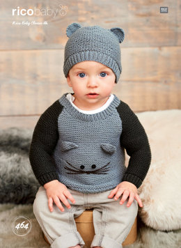 Sweaters and Hat in Rico Baby Classic DK - 464 - Leaflet
