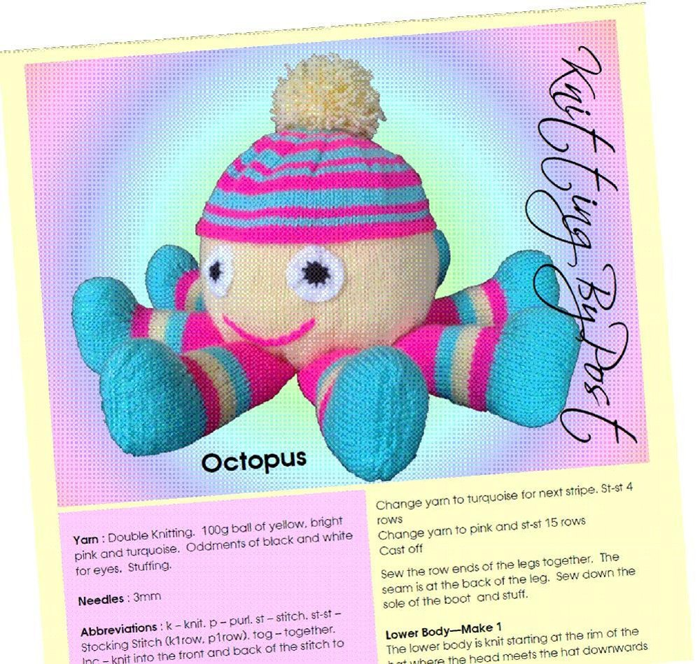 Knitting By Post Facebook : Octopus knitting pattern by post
