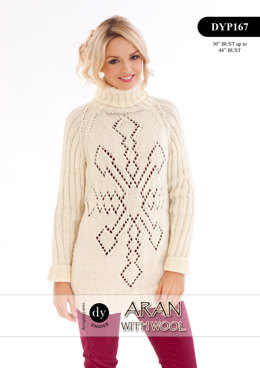 Jumper in DY Choice Aran With Wool - DYP167
