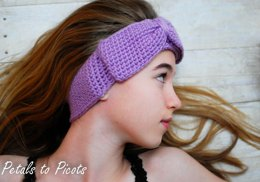 Headband Style Ear Warmer with Bow (3 sizes to fit child-adult)