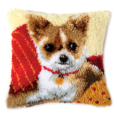 Vervaco Chihuahua Latch Hook Cushion Kit