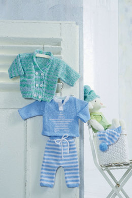 Sweater with Star in Schachenmayr Bravo Baby - S8655C - Downloadable PDF
