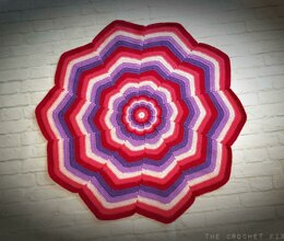 Kaleidoscope Flower Blanket