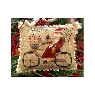 Homespun Elegance Avery's Cycling Santa - Merry Noel Collection - HEMN47 - Leaflet