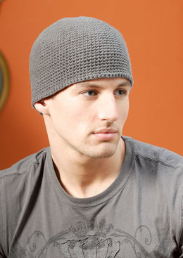 Men's Beanie in Blue Sky Fibers Worsted Cotton