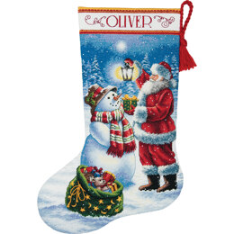 Dimensions Holiday Glow Cross Stitch  Stocking Kit