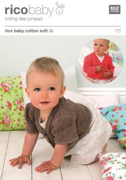 Cardigan and Short Puff Sleeves or Long Sleeves in Rico Baby Cotton Soft DK  - 170