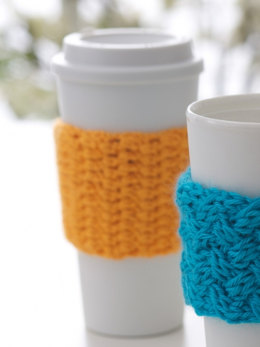 Coffee-on-the-go Crochet Cozy in Caron Simply Soft - Downloadable PDF