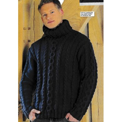 Cable Circles Roll Neck Jumper