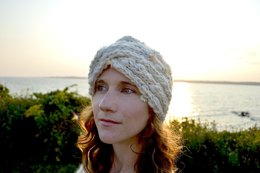Sharmila Turban Hat in Knit Collage Gypsy Garden and Sister Yarn