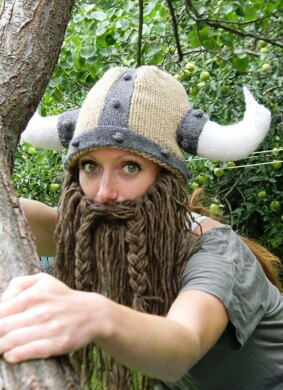Bearded Viking Helmet Knitting pattern by Holly Priestley  252d92a5329