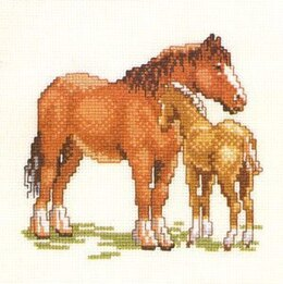 Pako Horse and Foal Cross Stitch Kit - 13cm x 17cm