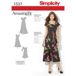 Simplicity Women's and Plus Size Amazing Fit Dress 1537 - Sewing Pattern
