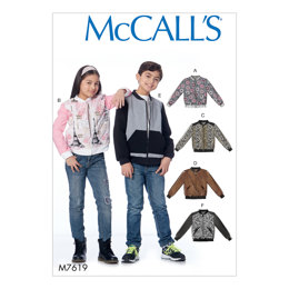 McCall's Children's/Girls'/Boys' Bomber Jackets M7619 - Sewing Pattern