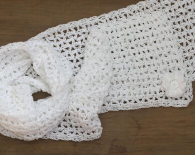 Lace Scarf with Flower