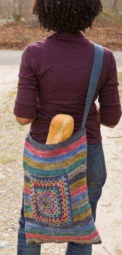 Striped Summer Bag in Classic Elite Yarns Fortuna
