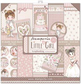 """Stamperia Intl Stamperia Double-Sided Paper Pad 12""""X12"""" 10/Pkg - Little Girl, 10 Designs/1 Each"""