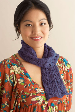 Tidewater Lace Scarf in Lion Brand Cotton-Ease - 90414AD