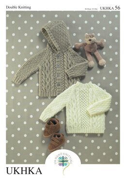 Sweater and Jacket in King Cole DK- UKHKA56pdf - Downloadable PDF