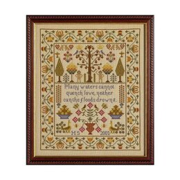 Historical Sampler Company Adam and Eve Sampler - Linen