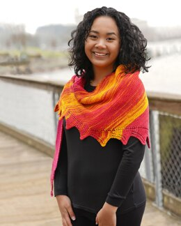 Paradigm Shift Lite Rosey Sunrise Shawl in Cascade Yarns - FW285 - Downloadable PDF