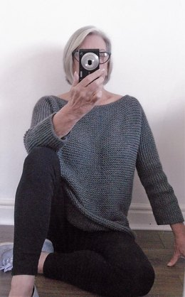 Aran Garter Stitch Tee Sweater