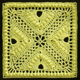Bee Hives and Clover Afghan Block