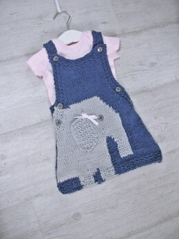 Elephant Pinafore for baby 0-3 yrs