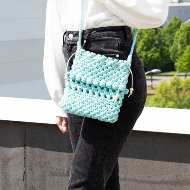 Macrame Bag Marrakesh in Hoooked Spesso Eco Barbante Chunky Cotton - Downloadable PDF