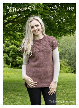 Knitted Tunic in Twilleys Freedom Alfresco Aran  - 9209