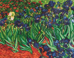 Diamond Dotz Irises (Van Gogh) Diamond Dotz Kit