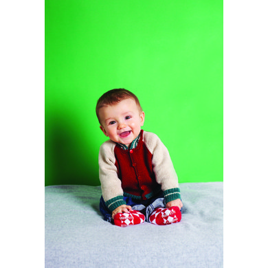 """Kids' Baseball Jacket"" : Jacket Knitting Pattern for Babies in Debbie Bliss Fingering Yarn"