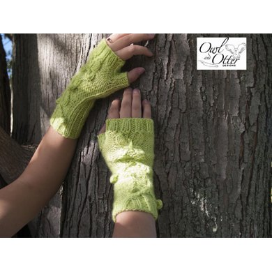 Twisted Vines and Butterflies Fingerless Mitts