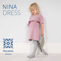 Nina Dress in MillaMia Naturally Soft Merino - Downloadable PDF